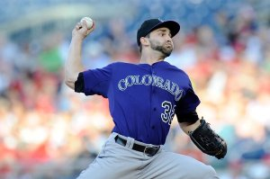 Tyler Chatwood is one of the promising young pitchers that the Rockies have on their roster. He has won seven games for them with a 3.17 ERA in 85.2 innings pitched and he has struck out 60 batters. He is solid with two and runners position but holding teams to a .167 batting average for the year.  He was acquired for Chris Iannetta.  A great deal when you consider the team has a young Wilin Rosario waiting in the wings