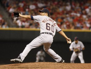 Villarreal has struggled so far in 2013, but in 2012 out of the pen for the Tigers he had a 2.63 ERA in 50 games. He had 66 Ks in 54.2 IP.