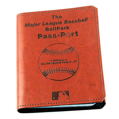 The Ballpark Passport is quickly becoming the favorite item among Ballpark Chasers, to chronicle their life goal to see all 30 Major League Parks.  You are able to receive the stamps kit for a small additional price.  At around $75 all combined, it will contain one of the biggest memento's ever for a Ballpark Chaser's best bucket list wish ever