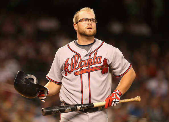 Brian McCann is the only member of the current Braves team that also played on the last Division Title winner in 2005.  The Veteran Backstopper has hit 20+ HRs in six consecutive years, even though he missed over 50 games this campaign.  McCann, 29, is a Free Agent after this season is completed.  He has bounced back after a mediocre 2012 year, in which he 3 slashed .230/.300/.689 - by putting a mark of .259/.339/.805, numbers more reflective of his career totals.