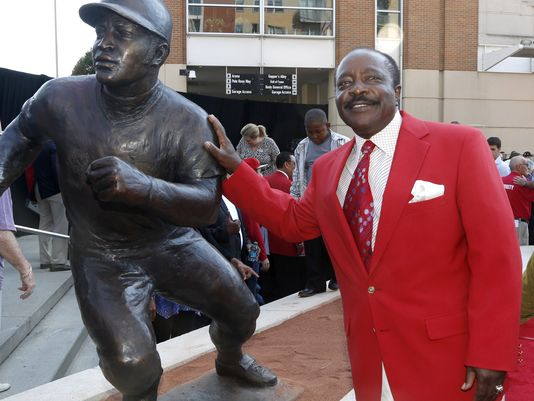 "This weekend at Great American Ball Park was Joe Morgan Weekend. Once this was announced earlier this season, I decided that I was going to make the trip to Cincinnati from my home in Louisville, Kentucky. A part of Joe Morgan Weekend was Morgan getting his ""Sculpture"" out in front of the stadium. As a huge Reds fan and a historian of the Reds this was a great moment for me and my dad. The best thing about the weekend, the entire Big Red Machine made the trip, including the hit king Pete Rose."