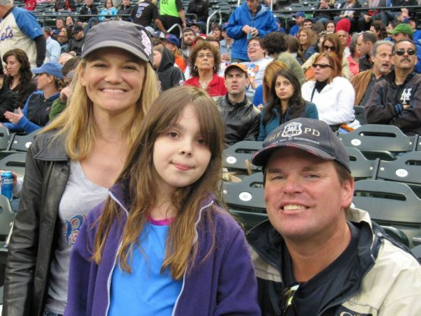 Actress/Producer/Songwriter/Reporter LorI Martini, Haley Smilow with Chuck Booth at Citi Field. May.06/2012.
