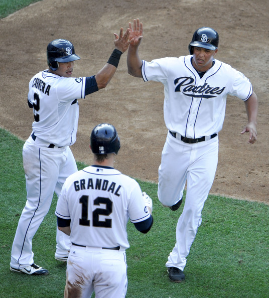 verth Cabrera and Yasmani Grandal both were handed out suspensions during the 2013 year. If Cabrera can come back to assume his role as the ALL - Star Shortstop he can play like, this team has a chance to compete. Look for the team to eventually move Headley in favor of playing Jedd Gyorko everyday at the hot corner. Cabrera Slashed .283/.355/.736 - with 37 SB in just 95 Games Played in 2013.