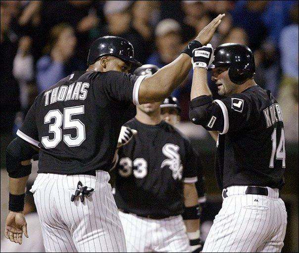 In 10 years, I want to look back at my favorite baseball team, and remember the great first baseman I've had the pleasure of watching. Frank Thomas, Paul Konerko, and Jose Abreu. The third guy on that list may be wishful thinking, but it's all I got.Frank Thomas and Paul Konerko manned first base for the White So for over 20 years combined. While Big Frank retired a few years ago, it is still yet unknown whether Konerko will retire, remain with the Sox in a bench role, or sign elsewhere in 2014.It has been rumored that Konerko wants to give it one more year, especially after he had his most disappointing and unproductive season in his solid career.