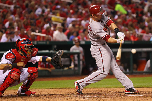 Paul Goldschmidt was the best hitter in the line up for Arizona. He carried the offense for the whole season and also played stellar defense at first base for the team. There were numerous occasions during the season where Arizona needed a clutch hit and Goldschmidt came through when it mattered most. He had a .302/.401/.952 triple-slash with 36 HRs and 125 RBIs and this also included him having 332 Total Bases. He also led the National League in Extra-Base hits with 75 and was third in runs scored at 103. He gave opposing pitchers nightmares when runners were in scoring position, where he had a .338 average with 12 HRs 84 RBIs. He proved to be a very good clutch hitter where he hit 13 HRs from the seventh inning on.  In 2014, he has continued his assault on NL pitching, despite the club not faring as well.  Heading into Sunday, he has a slash line of .324/.375/.571 - and leads the NL in GP (45) PA (202) AB (182) H (59) 2B (18) XBH (27) and TB (104) and is tied for 4th in HRs with 9.