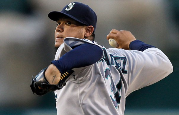 Felix Hernandez has been the face of the Seattle Mariners since 2009 when he won 19 games for the Mariners.  He followed up with a CY Young season in 2010.   The last 3 years, he has gone 39 - 33, with a lowe 3 ERA, but finished 4th in Cy Young Voting in 2012, and was oine of the frontrunner to win the 2013 AL Cy Young - before the team shut him down for the rest of the year in Sept (still finished 8th in Voting).  Hernandez sports a 110 - 86 record with a 3.20 ERA for his 9 year career.  Expect nearly 16  - 18 wins this year with a near 3 ERA.  Photo: Chris Carlson - AP