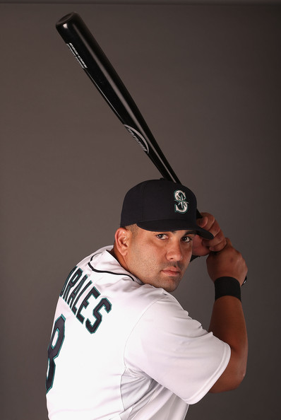 The Mariners made Morales a Qualifying Offer of 1 YR/$14.1 MIL in Nov.2013.  If he signs elsewhere, the club will receive a compensatory pick.  The Seattle club could also still negotiate a long term deal with the DH, or even a short term deal.  As primarily a DH last year, and even before that with the Angels, it hurts his ability to be signed in the National League.  Perhaps if the compensation is removed after the 2014 MLB Amatuer Draft, Morales would be able to receive a bigger deal.