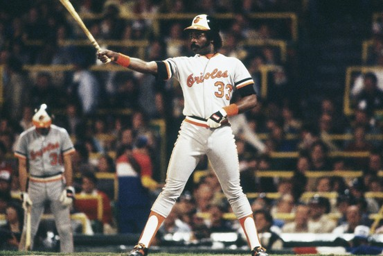 Eddie Murray did the majority of his damage in the MLB as part of the Orioles franchise.  In 13 seasons, included a shortened 1981 campaign where he hit an AL leading 22 HRs and 78 RBI, he held a 3 Slash Line of .294/.370/.868 - with 343 HRs and 1221 RBI, he would go onto make the BBHOF later as a member of Baltimore.  Murray also won the 1983 World Series and was a longtime teammate of fellow 3K hit man Cal Ripken.