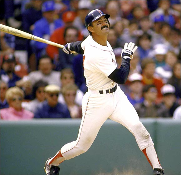 Dwight Evans would be revered in today's new sabermetric community.  The 8 Time Gold Glover, 2 Time Silver Slugger and 3 Time ALL - Star just didn't receive enough credit for the all around players he was back in the day.  Evans led the AL in Walks (3x), OPS (2x), PA (2x), GP (2x) OBP (1x), HRs (1x) and TB (1x).  The man features a Career 3 Slash of .272/.370/.840 - with 385 HRs and 1385 RBI and 5 top 10 AL MVP finishes.  Dewey had his best Post Season Series during the 1986 World Series with a .300/.400/1.015 3 Slash Line - with 2 HRs and 9 RBI in the 7 Game Series loss to the Mets.