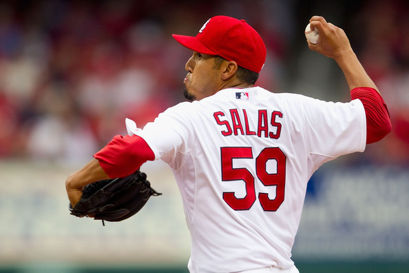 Fernando Salas threw exceptionally well for the 2011 World Series Champs, staking up a 2.28 ERA in 75 Innings logged, however he has regressed with a 4.30 ERA in 2012, and had a 4.50 ERA in 2013.  With all of the young chuckers that St. Louis had, it was simple to trade Salas as he would have been caught up in a numbers game.  Anaheim on the other hand, has a crappy Bullpen, and the 28 Year old from Mexico will be given every opportunity to make the Relief Core in 2014.