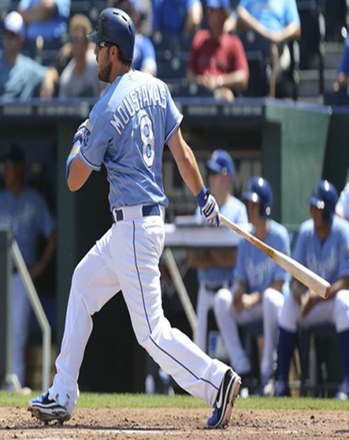 Mike Moustakas was a high school shortstop and was named California High School Player of the Year in both his Sophmore and Junior seasons.  His teammate and left side of the infield counterpart is fellow big leaguer, and first round draft pick Matt Dominguez.  He also launched 52 career home runs in high school, a California record, but then again, I launched a home run at Chatsworth, and I was a skinny pitcher who typically wasn't allowed to hit, so take that record as you will.