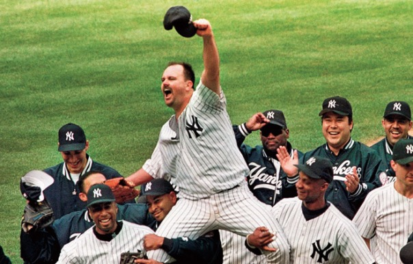 David Wells was the 1st Yankee to throw a perfect game since Don Larsen had thrown one in the 1956 World Series. It was the 15th perfect game in World Series history. This underrated Lefty was a 3 time ALL - Star, 2 time World Series winners and is tied with Kenny Lofton for appearing with 6 teams in the playoffs. He also was the last player to have been carried off at Yankee Stadium.