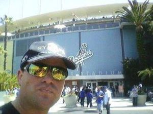 Chuck Booth at Dodger Stadium Opener April.10/2012