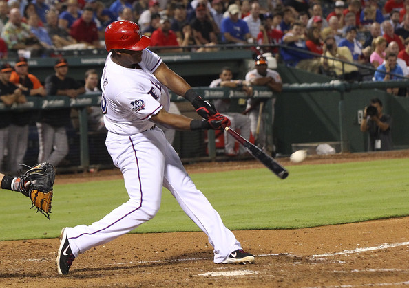 Adrian Beltre has earned every cent of his 6 years/$96 MIL deal signed before the 2011 season so far. He has 3 slashed .309/.358/.514 in his tenure and has finished in the top 15 for MVP voting in each of those campaigns. The Rangers should try to extend him for 2 or 3 more years past 2016 - and lock up the future Hall Of Famer so he can end his career in Arlington. Beltre will play next season at Age 37 - and will make $16 MIL in the final year of his pact.