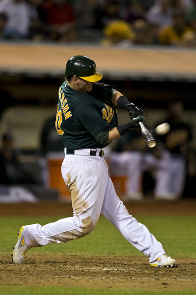 Josh Donaldson finished 4th in AL MVP Voting last year for a reason.  Since he had a slow start in 2014, the A's 3B has really picked it up in the last 28 days, hitting for a 3 Slash Line of .273/.391/.526 - with 6 HRs and 19 RBI in his last 25 Games Played .  Donaldson has also cracked Tater-Trots in the last 2 contests, and bringing his RBI total up to 28 for the year.  His Oakland A's have surged to 1st in the AL West through 41 Games, with a 25 - 16 record.
