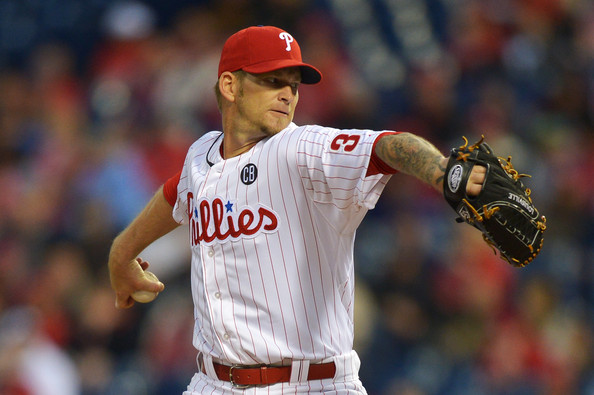 "Normally when a player in sports has ""Sports Hernia"" it plagues his performance.  It doesn't seem to have slowed Burnett down, as he is leading the NL in Starts with 7, and has a 2.06 ERA and a WHIP of 1.214 in 43.2 IP worth of work for the Phillies in 2014.  Philadelphia inked the 37 Year Old to a 1 Year Deal with an option prior to this year.  Burnett will earn $15 MIL in 2014 and if the Phightins decline his $15 MIL 2015 Option, Burnett can trigger a salary of $7.5 MIL deal for next campaign."