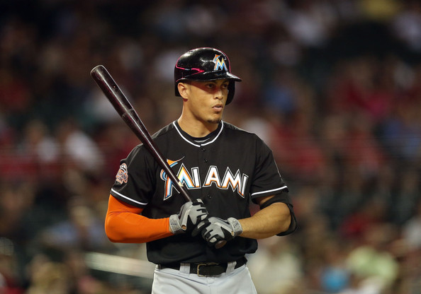 Giancarlo Stanton is healthy, motivated and when he is on, no ballparks can hold his behemoth blasts in.  Of his 10 HRs, 9 of them have traveled further than 400 Feet.  In the young season, Stanton leads the NL with HRs (10), the Majors with RBI (36) and Total Bases (NL - 74).  The 24 Year Old from Panorama, CA has Slashed .285/.362/.603 - and is a major reason why the Marlins are just a game and a half behind the NL Division Leader.