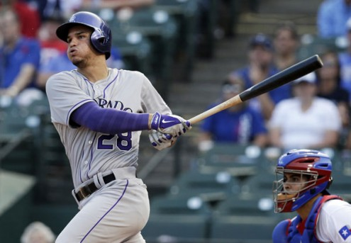 CARGO's battering mate Nolan Arenado emerged as the premiere 3B in the National League in 2015 3 Slashing .287/.323/.575 - with a league leading 42 HRs and 130 RBI. At 24 next year, he is coming off both a Gold Glove and Silver Slugger year. Can he hold on until the club becomes competitive before losing his patience with the organization?