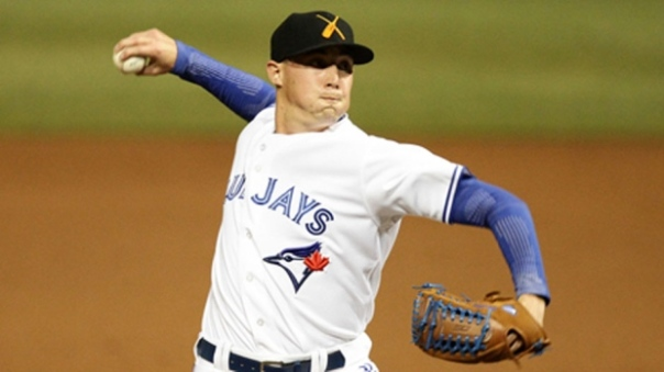 #1 Prospect in the system for the Jays is Aaron Sanchez.  Photo Credit - CBC