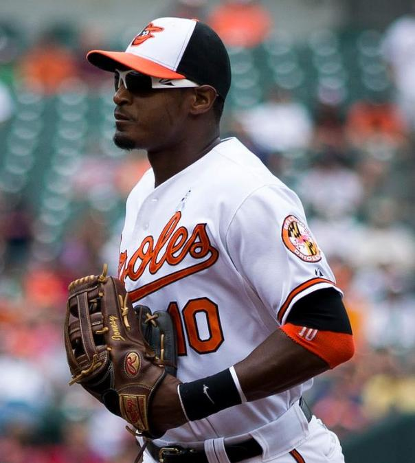 Adam Jones was brought over in a trade with Chris Tillman, George Sherrill from the Seattle Mariners in exchange for Erik Bedard in the 2007 offeseson. Jones is a 3 time Gold Glove Winner, and has 2 straight season of 30+ HRs, and might well be in the top 5 AL MVP consideration this year by the time it is all said and done. This trade started the pendulum swinging back in the other direction - after a horrible 10 year stretch for the O's. Baltimore broke a 15 year playoff drought n 2012 with a Post Season Berth.  This 4 time ALL - Star  is on pace for career highs in HRs and RBI for 2014. Jones, now 28, signed a 7 YRs/$91.7 MIL deal prior to the 2012 season, which means he is with Baltimore until the end of 2018