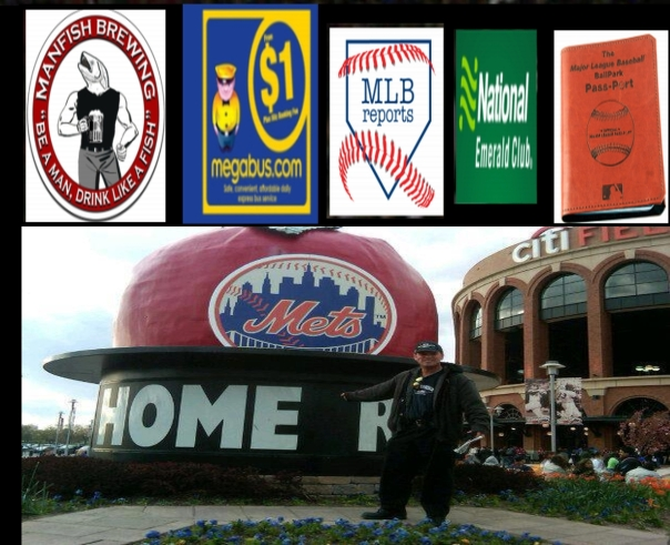 2015 MLB Trip Sponsors: Man Fish Brewery, Megabus.com, MLB Reports, National Car Rental, MLB Ball Park Pass-Port