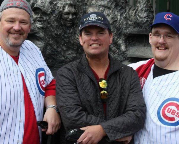 The last time I hung out with Bob Devries (Left) was at Wrigley.  It just so happens he will be there cheering his favorite team in Chicago, and I will be rooting for my favorite NL Team, the Nats on this day.