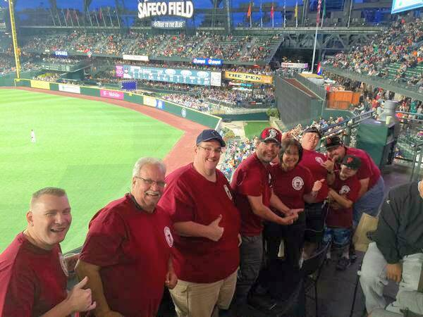The Manfish Brewing T-Shirts were a big hit in the hit it here cafe at Safeco Field Thursday June 18, 2015