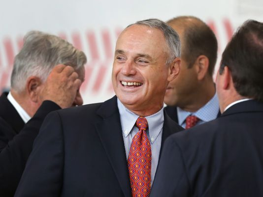 Rob Manfred has shown an aptitude to make drastic changes in the sports since taking over as the Commissioner a year ago in the MLB. The new agenda is to have both the American League and National League playing by the same rules. Purists will hate the adopting the DH, as is their disdain for the Designated Hitter in the AL. They will say they should eliminate that position. different solution.