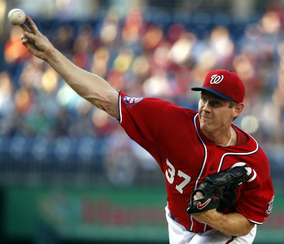 As good as Stephen Strasburg was in the 2nd half of the 2015 year, ( 6 - 2 with a 1.90 ERA post ALL - Star), he will be a Free Agent after 2016. The Nats need a leadoff man, and a lockdown Closer- after they potentially trade attitude problem Jonathan Papelbon. It makes for both clubs to pull the deal off. There will also not be any recourse action as they are all set to switch leagues. The trade would see the Yankees flip leadoff OF man Brett Gardner and Closer Andrew Miller in return. Both of those 2 Yankees have 3 years left on their current deals.