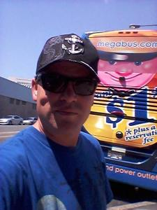 It is kind of weird the only time i have posed for a picture in front of a Megabus was for a reservation I had that wasn't even valid anymore.