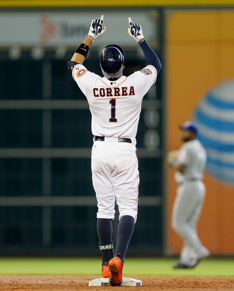 Carlos Correa was the 1st overall pick in the 2012 Amateur Draft for the Houston Astros.  He came up in early June and proceeded to win the American League Rookie Of The Year Award with a 3 Slash of .279/.345/.512 with 22 HRs (led all shortstops in the MLB) and 22 Doubles in just 99 Games.  This type of production will change the complexion of the team for the next 6 years.  He is just going to be 21 for all of next season - and he looks exactly like a young Alex Rodriguez.  In his 1st postseason action, Correa smacked 2 HRs in that pivotal game 4 of the ALDS for Houston, staking them to a 6 - 2 lead before the Bullpen gave up the game.