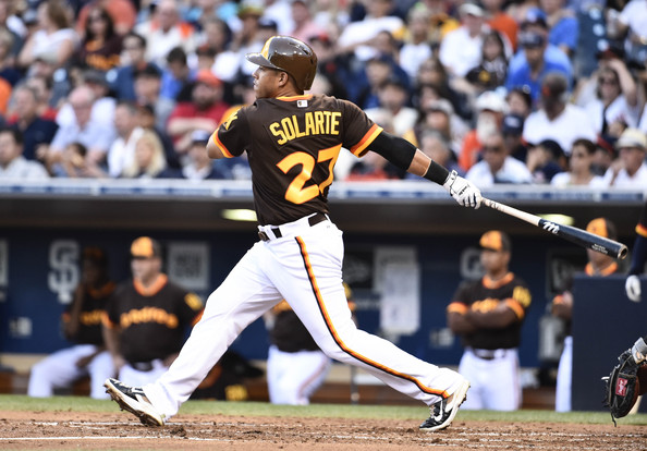 Yangervis Solarte was one of the top few players offensively for the Padres in 2015 - with over 50 Extra Base Hits in his 1st full season with the club. Solarte was acquired at the 2014 Trade Deadline for Chase Headley, and has put up similar numbers offensively for a fraction of the price. Solarte is one of the guys that may have already nailed down a Starting Position in 2016. He Matt Kemp and Wil Myers are the only real solidifying players to begin the year in the field and in the lineup.
