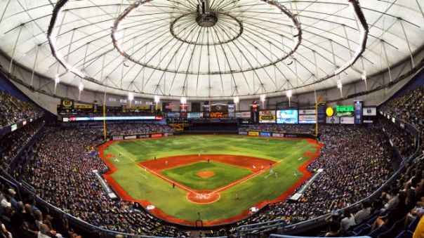 With having Tropicana field as their home park the Rays just simply can't generate revenue to compete