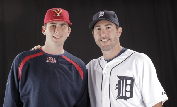 Trey Rose with Justin Verlander