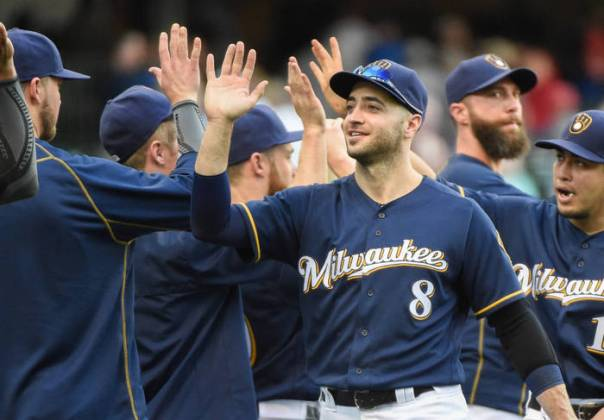 Ryan Braun is 8 - 26, with 2 HRs and almost a 1.000 OPS in his career vs Madison Bumgarner. He provides salary relief, and some sort of protection in case the Brewers OF gets a hold of one of one of your pitchers on Tuesday night.