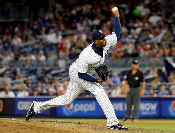 Aroldis Chapman appeared in 31 Games for the Yankees in 2016, holding 20 Saves and a crisp 2l01 ERA and WHIP of .867