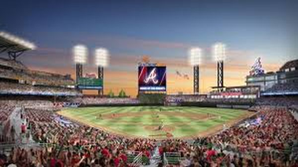SunTrust Park will open up its gates for baseball for the 1st time ever on Friday Apr 14, 2017. It is the last home opener to have its game on the schedule for the 2017 Regular Season.. IMAGE - Ballparksofbaseball.com